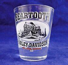 BEARTOOTH HARLEY DAVIDSON RED LODGE, MONTANA SHOT GLASS