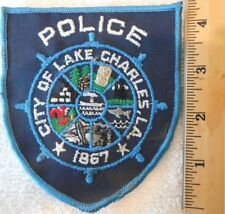 LAKE CHARLES LOUISIANA POLICE PATCH (SHERIFF, HIGHWAY PATROL, STATE POLICE)