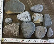 10 Large Pieces Purple Very Old Pottery Sea Glass Art Mosaic Crafts #496