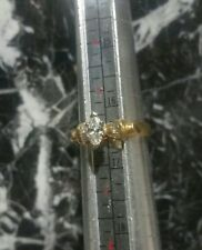 14K Yellow Gold Ring. Marquise Cut 0.60ct Main DIAMOND  .Size 6/3.23 grams