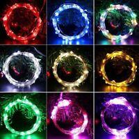 10M 100 LED Lichterkette Außen Weihnachten Lichterkette Garten Mini ogzlx