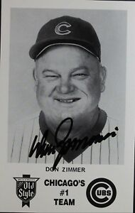 Don Zimmer Cubs Manager (d.14) Chicago's #1 Team 3x5 Autographed Signed Card JSA