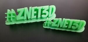 Custom Hashtag (#) 3D Text Sign - Create your own custom # sign - USA - Znet3D