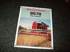 MASSEY FERGUSON 8570 COMBINE BROCHURE LITERATURE ADVERTISING