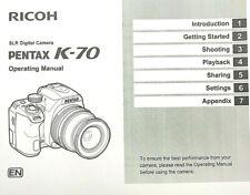 Pentax K-70 SLR Digital Camera OPERATING MANUAL (156 Page)