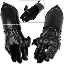 New Gauntlet Gloves Black Antique Finish Armor Medieval Steel Functional Gloves