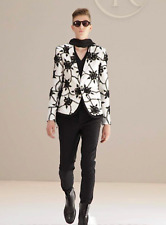 RYNSHU MASATOMO JAPAN $3,885 flower embroidered blazer white silk jacket XXL NEW