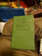 """New listing Singer """"A Manual of Family Sewing Machines"""" 1926 Very Good Used Condition"""