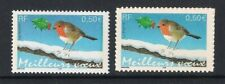 France 2003 Meilleurs Voeux Christmas Robin, MNH