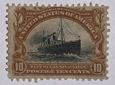 Travelstamps: 1901 US Stamps Scott # 299, Fast Ocean Navigation, mint og hinged