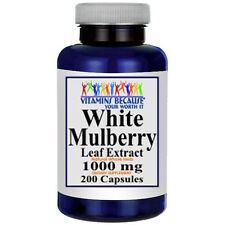 White Mulberry Leaf Extract 1000mg 200 Caps Vitamins Because