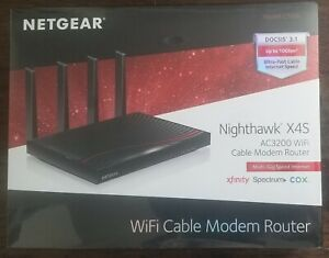 NEW! NETGEAR NIGHTHAWK X4S AC3200 C7800-200NAS CABLE MODEM ROUTER