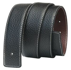 Mens Reversible Leather Belts Genuine Replacement Belt Strap for Men Jeans Q11