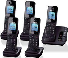 Panasonic KX-TGH225 Dect Home Cordless Phone Answer Machine 5 Handsets