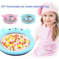 Instant Ice Cream Maker Yogurt Sorbet Gelato Ice Roll DIY Making Pan for Kids
