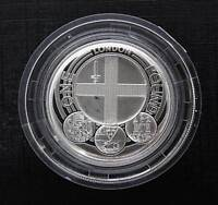 Royal Mint 2013 London Piedfort £1 One Pound Silver Proof Coin Box COA