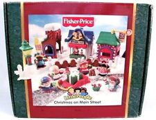 NEW 2003 Fisher Price Little People Christmas Main Street Town Set Holiday Box