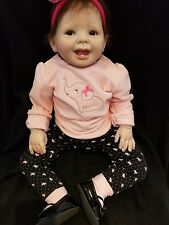 """❤Reborn Toddler❤LADY BUG❤""""FAST SHIP""""❤26 inch.❤Micro ROOTED hair❤PRELOVED❤"""