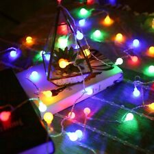 LE Globe String Lights with Timer 33ft 100 Multicolor Plug in Adapter