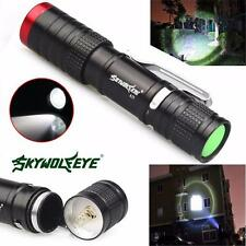 5000LM Zoomable CREE XM-L Q5 LED 18650 Flashlight Torch Super Bright Light UK