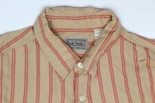 Paul Smith Sportswear Shirt Size 3 16.5 Brown Red Stripe Cotton Rayon Blend L/S