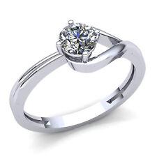 Genuine 0.5ctw Round Cut Diamond Ladies Solitaire Engagement Ring 14K Gold