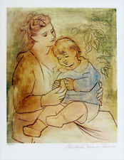 Pablo Picasso Mother & Child Limited Edition Giclee Signed 20 x 13