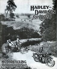 1926 HARLEY-DAVIDSON BROCHURE - Antique Reproduction