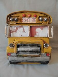 Collectible Metal very old Photo Album School Bus Home Collection.