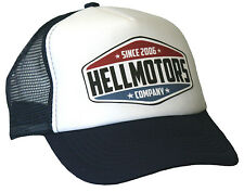 Hellmotors Trucker Cap Navy Weiß Hot Rod US Car Old School Biker Mütze Hut Neu