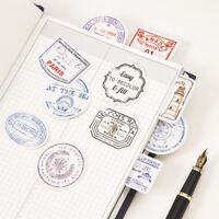 Travel Stamp Postmark Adhesive Stickers DIY Diary Scrapbook Sticker Paper Crafts