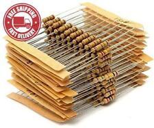 WINGONEER 300PCS 1/2W Watt 1% Carbon Film Resistors Assorted Kit Set 30 Values 1