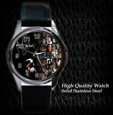 New Michael Jackson MJ Leather Metal Watch