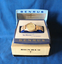 Vintage Men's Benrus 3 Star Self Winding Wristwatch Original Inner/Outer Box Run