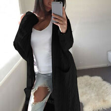 Womens Long Sleeve Knitted Cardigan Sweater Casual Open Front Outwear Coat CA