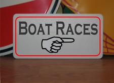 Boat Races Metal Sign