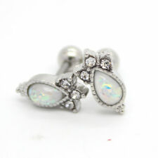Vintage White Opal Tragus / Cartilage / Helix Bar - Ear Stud ~ 6mm x 1.2mm