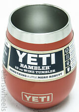 Yeti Rambler 10oz Wine Tumbler Canyon Red Insulated Cup Free Shipping