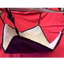 Hammock PURPLE Fur Rabbit Guinea Pig Ferret Rat chinchilla 14 x14 Inch Nest Play