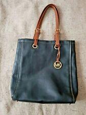 Michael Kors Navy Black & Brown Shoulder Handbag Tote Adjustable Straps VGC
