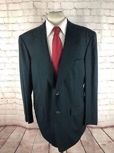 Brioni Men's Green Solid Wool Blazer 44R $6,395