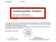 SGD Einsendeaufgaben Maschinenbautechniker = ABSCHLUSS 2017 = ILS HAF ESA MBT