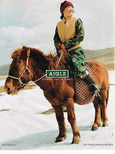 PUBLICITE ADVERTISING 045  2003  AIGLE    gilet TROPHY  en MONGOLIE