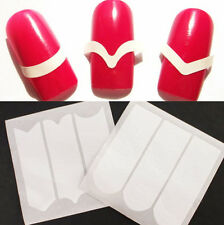 2 Sheets French Manicure Edge Tip Stickers DIY Guides Strip Nail Art Tools