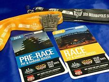 Indy 500 2014 SILVER PIT BADGE 98th Race W/ BACKERS & LANYARDS Ryan Hunter-Reay