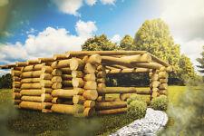 Design Saunahaus Holz Sauna Unikat Rundstammhaus Blockhaus Naturstammhaus