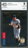 1993 SP #279 Derek Jeter Rookie Card BGS BCCG 9 Near Mint+