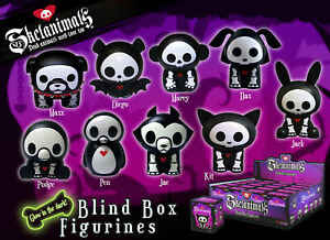 "3"" Blind Box Skelanimals PVC Figurine - New Unopened - 9 Random Character Styles"