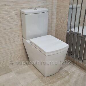 Verona Bathroom Toilet WC Seat Close/Coupled Short Projection Ceramic