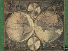 Beautiful Matted Nova Orbis World Map Foil Art Print~Affordable Art~8x10~Maps
